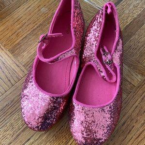Gap girls pink sequin ballet flats 2